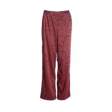 Donna Pyjama Pants 9314, wine red