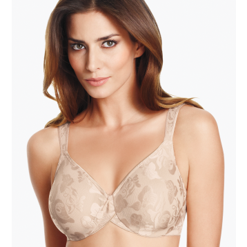 Awareness underwired seamless bra powder