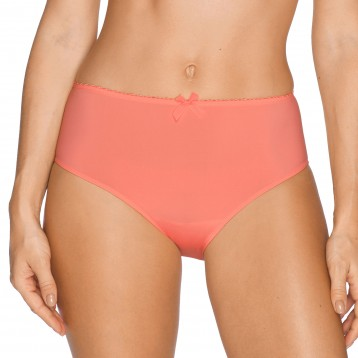Divine high waist brief, coral