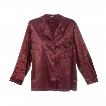 Donna Pyjama Jacket 9318, wine red