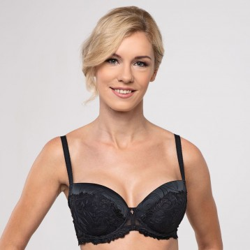 Donna Push Up Bra 3837, black