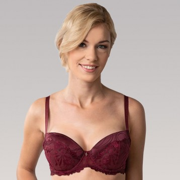 Donna Push Up Bra 3837, wine red