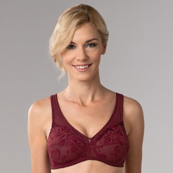 Donna Soft Bra 2802, wine red