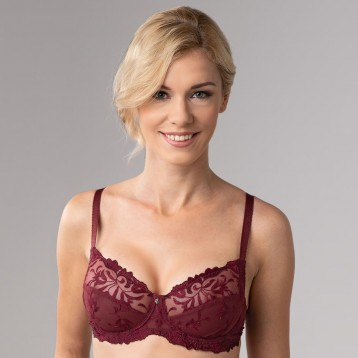 Donna Underwired Bra 3836, wine red