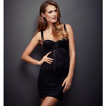 Elastic Shape Dress, black 9306