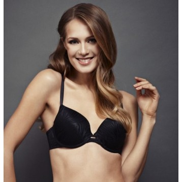 Elastic T-Shirt Bra, black 3815