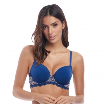 Lace Perfection T-shirt bra blue