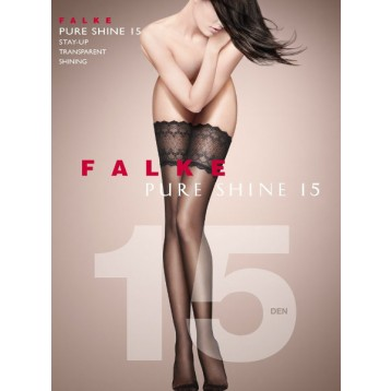 Falke Pure shine 15 DEN Stay Ups black 41545